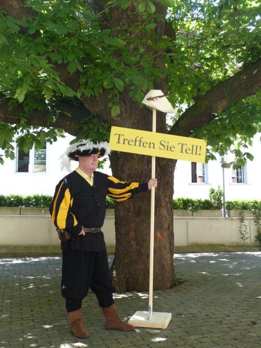 Uri Tourismus macht Winterthur mit Tells Apfelschuss zum Tatort. (© Uri Tourismus AG)