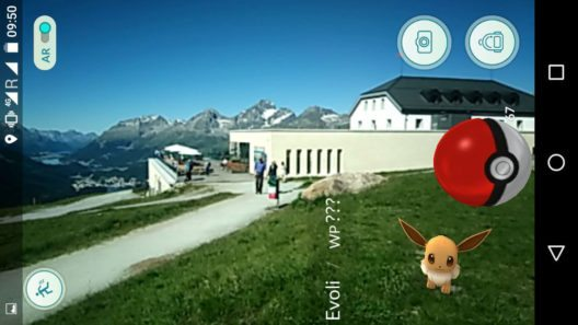 Pokémon-Sichtung auf Muottas Muragl (Bild: © Engadin St. Moritz Mountains AG)