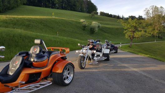 Eine Tour mit dem Trike garantiert ein ganz besonderes Fahrerlebnis.