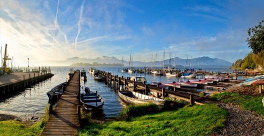 Der Chiemsee ist der drittgrösste See Deutschlands.