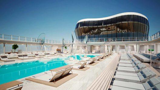 MSC Meraviglia – Rendering (Bild: MSC Cruises, Wikimedia, Bild freigegeben für Medien)