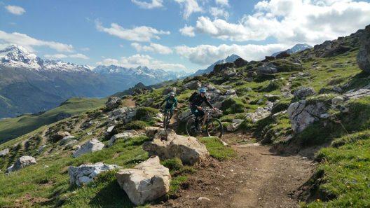 """Mitte August starten in St. Moritz die """"Rocky Mountain Trail Games"""" - ein Mountainbike-Event. (Bild: © Engadin St. Moritz Mountains AG)"""