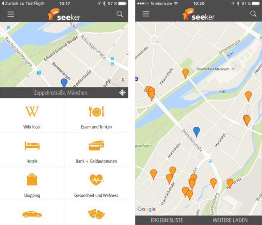 Neue App seeker – digitaler Reiseführer für die Hosentasche. (Bild: seeker GmbH)