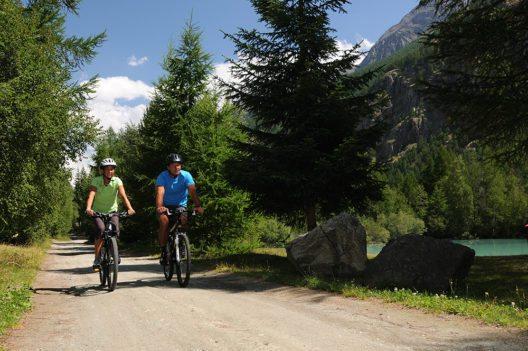 Am 16. Juli wird der Biketrail Zermatt – Visp mit einer Fackelfahrt eingeweiht. (Bild: © Leander Wenger)