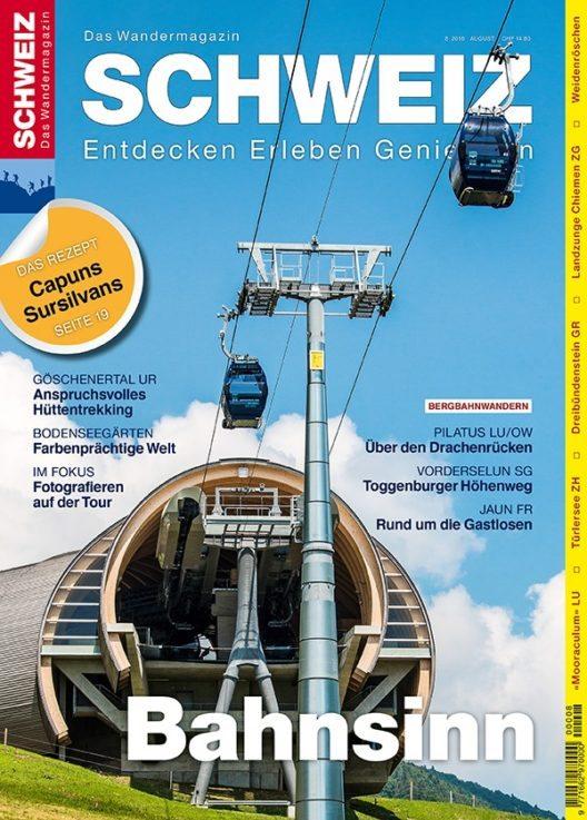 """Die aktuelle Ausgabe des Wandermagazins SCHWEIZ berichtet über das """"Bergbahnwandern"""". (Bild: © obs/Wandermagazin SCHWEIZ/Marco Faggi)"""