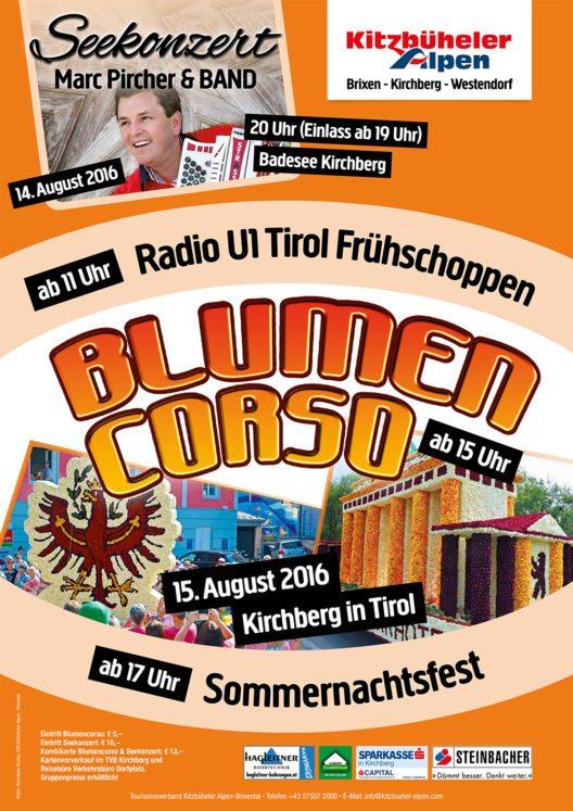 Plakat Blumencorso (Bild: TVB Kitzbüheler Alpen – Brixental)