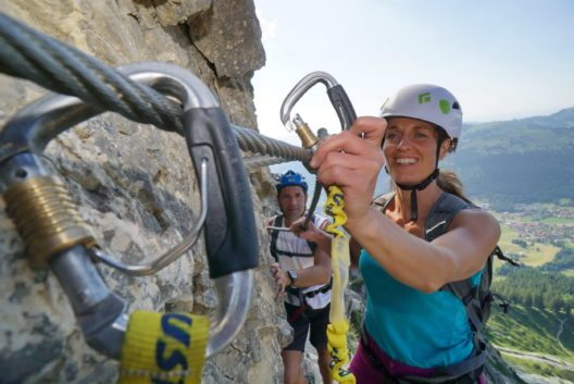 Der EDELRID-Klettersteig ist ein Abenteuer, in das man sich auf keinen Fall unvorbereitet stürzen sollte.