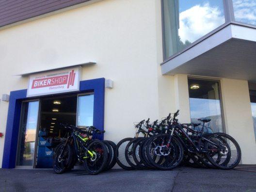 BikerShop Flumserberg – das nationale Testcenter von intercycle. (Bild: © Bergbahnen Flumserberg AG)
