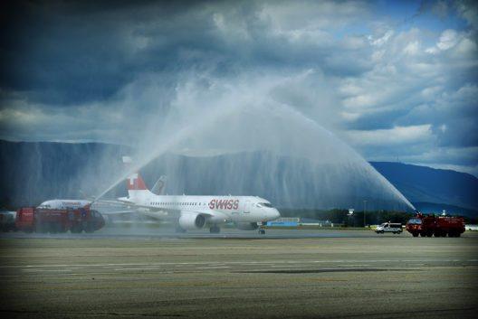 Taufe – SWISS Bombardier C-Series (Bild: © Laurent Guiraud)
