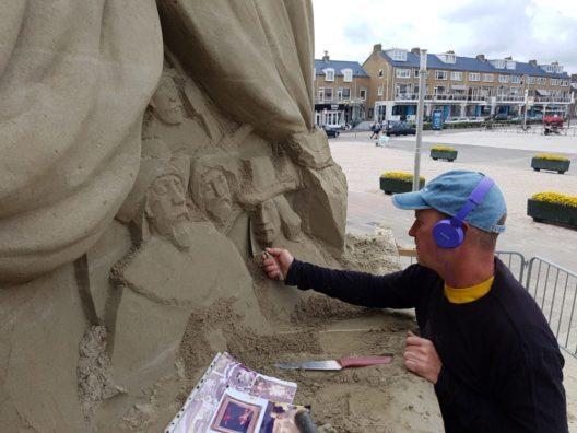In Zandvoort können Sandskulpturen besichtigt werden. (Bild: ©WSSA Den Haag 2016)