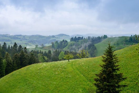 Landschaft bei Hergiswil (Bild: Norbert Nagel, Wikimedia, CC)