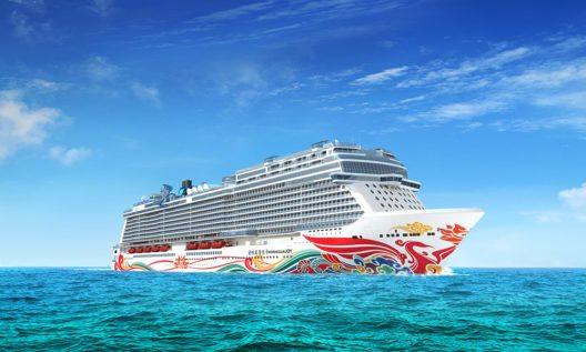 Die Rumpfbemalung der Norwegian Joy stammt vom chinesische Künstler Tan Ping. (Bild: © Norwegian Cruise Line)