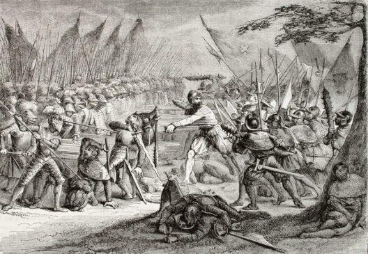 Die Schlacht bei Sempach - Illustration (Bild: Marzolino – Shutterstock.com)