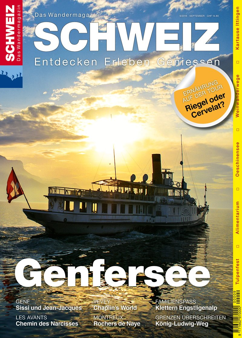 """Wandermagazin SCHWEIZ - Ausgabe """"Genfersee"""" (Bild: © obs/Wandermagazin SCHWEIZ/Jochen Ihle)"""