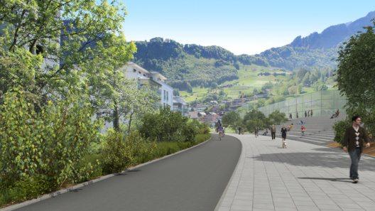 Bahnrain (Bild: Doppelspurausbau Hergiswil)