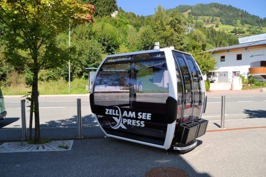 """Der """"zellamseeXpress"""" wartet mit einer kostenfreien WLAN Verbindung in jeder Gondel sowie einer Weltneuheit in Form von insgesamt sechs Jukeboxx-Gondeln auf."""