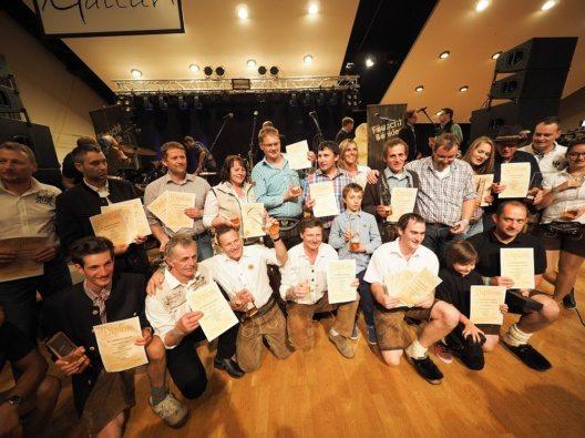 Die Tiroler Gewinner bei der 22. Interationalen Almkäseolympiade.