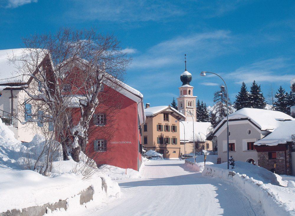 Engadin St. Moritz - Winterpanorama von Madulain (Bild: ENGADIN St. Moritz / swiss-image.ch / Max Weiss)