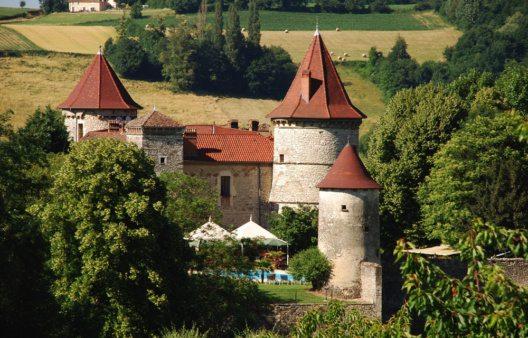 Ehemalige Festung in der Region Rhône-Alpes (Bild: Château Chapeau Cornu)