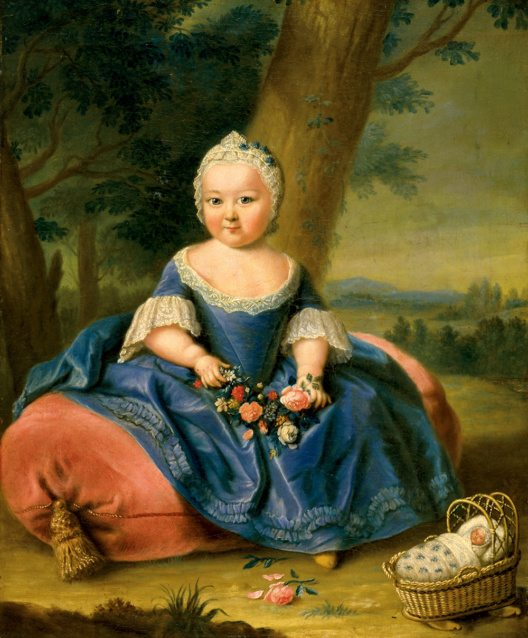 Maria Theresia als dreijähriges Mädchen. Ölgemälde, anonym, um 1720 (Bild: © WienTourismus)