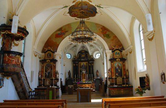 Die Pfarrkirche von Meierskappel (Bild: Dietrich Michael Weidmann, Wikimedia, GNU)