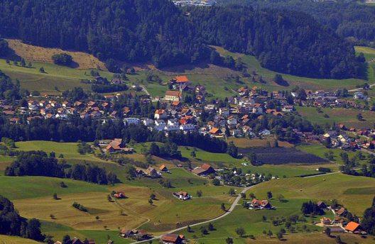 Meierskappel – Ansicht von Rigi Kulm (Bild: Andreas Faessler, Wikimedia, CC)