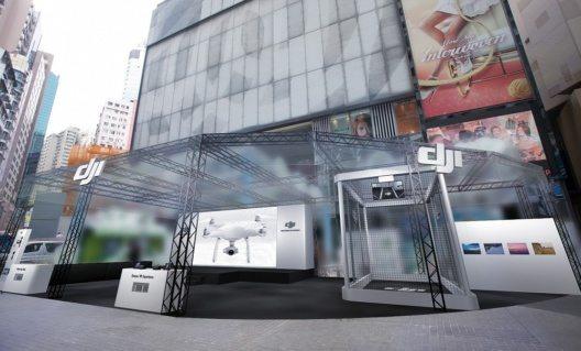 Der DJI Hong Kong Flagshipstore öffnet seine Türen für die Öffentlichkeit am frühen Mittag um 12:00 Uhr.