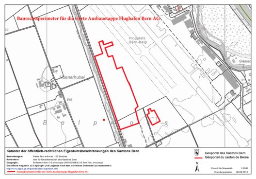 Plan Baurechtsperimeter Flughafen Bern (Bild: © Stadt Bern)