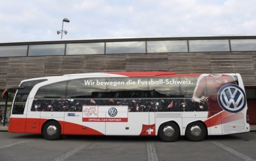 Schweizer Fussball-Nationalmannschaft weiter mit Heggli in der Schweiz unterwegs! (Bild: © Heggli)