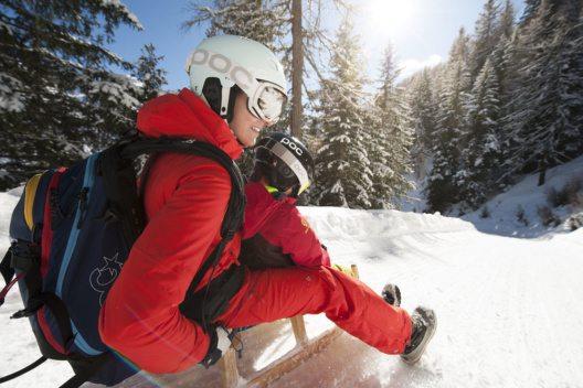 Der Elfer in Neustift gilt als DER Rodelberg schlechthin. (Bild: TVB Stubai Tirol/Andre Schönherr)