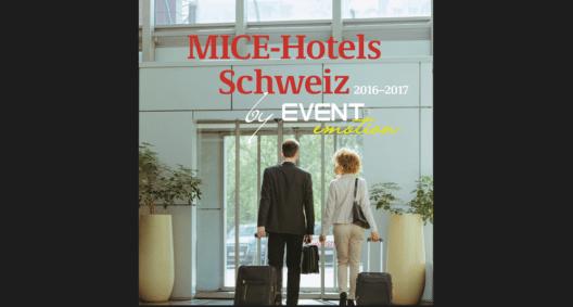 """Ganz auf Geschäftsreise-Angebote ausgerichtet ist """"MICE-Hotels Schweiz"""", das neue Nachschlagewerk des Tourismus Lifestyle Verlags in Bern."""
