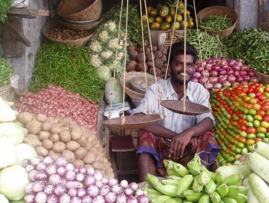 Gemüsemarkt in Sri Lanka – aus frischen Zutaten wie diesen lässt sich auch zu Hause eine bekömmliche Gemüsesuppe kochen (Bild: © AHM PR)