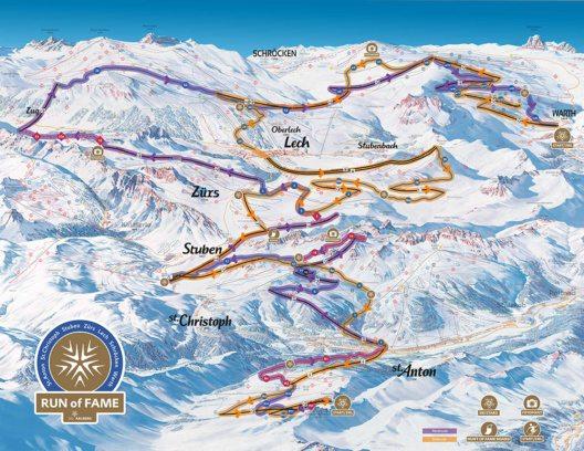 """Ab Winter 2016/17 können Pistenfans das gesamte Arlberg-Gebiet auf dem """"Run of Fame"""" erkunden. (Bild: © Ski Arlberg)"""
