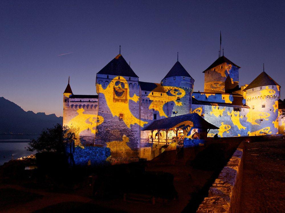 Schloss Chillon (Bild: © Light Designer G. Hofstetter – Foto F. Vittoz)