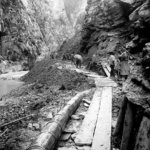 Teuchelverlegung Thermalwasserleitung