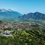 Luftansicht Grand Resort Bad Ragaz im Heidiland