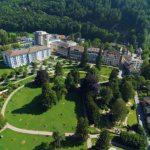 Luftansicht Grand Resort Bad Ragaz und Schlucht