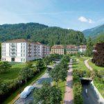 Aussenansicht Auffahrt Grand Hotel Quellenhof & Spa Suites