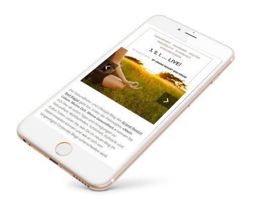 Mobile Version der Webseite