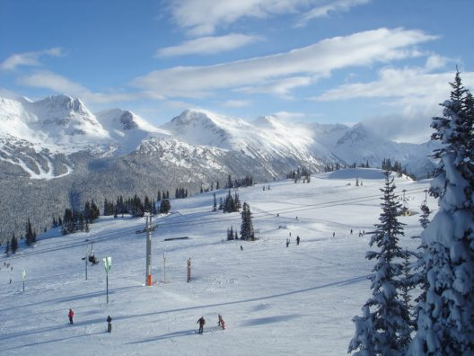 Ausblick vom Whistler Mountain & Blackcomb Mountain