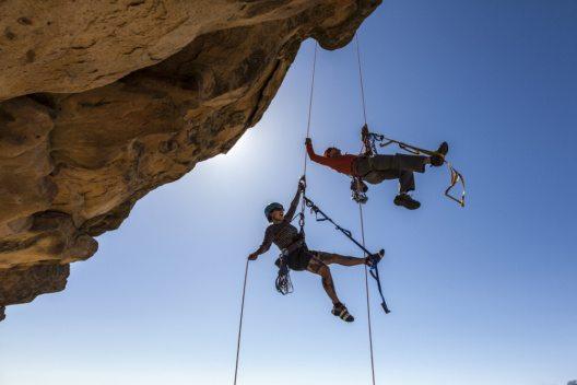 Herausforderungen des Bergsteigens.