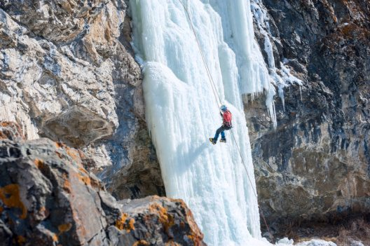 Eisklettern - eine besondere Herausforderung.