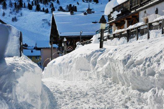 Mit weitem Abstand bei Schneehöhen vorne