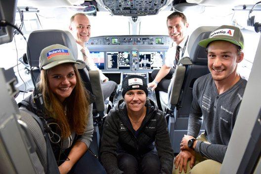 Die Ski WM hat mit SWISS ihre offizielle Fluggesellschaft gefunden. (Bild: © Swiss International Air Lines Ltd.)