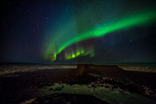 In Skandinavien sollen die bunten Lichter die Ankunft grosser Heringsschwärme ankündigen. (Bild: Ragnar Th. Sigurdsson)