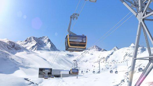 Im Stubaier Gletschergebiet startet die Skisaison. (Bild: © Stubaier Gletscher/Andre Schönherr und Stubaier Gletscher/renderwerk.at)