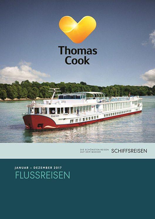 """Der neue Katalog """"Flussreisen"""" 2017 (Bild: Thomas Cook)"""