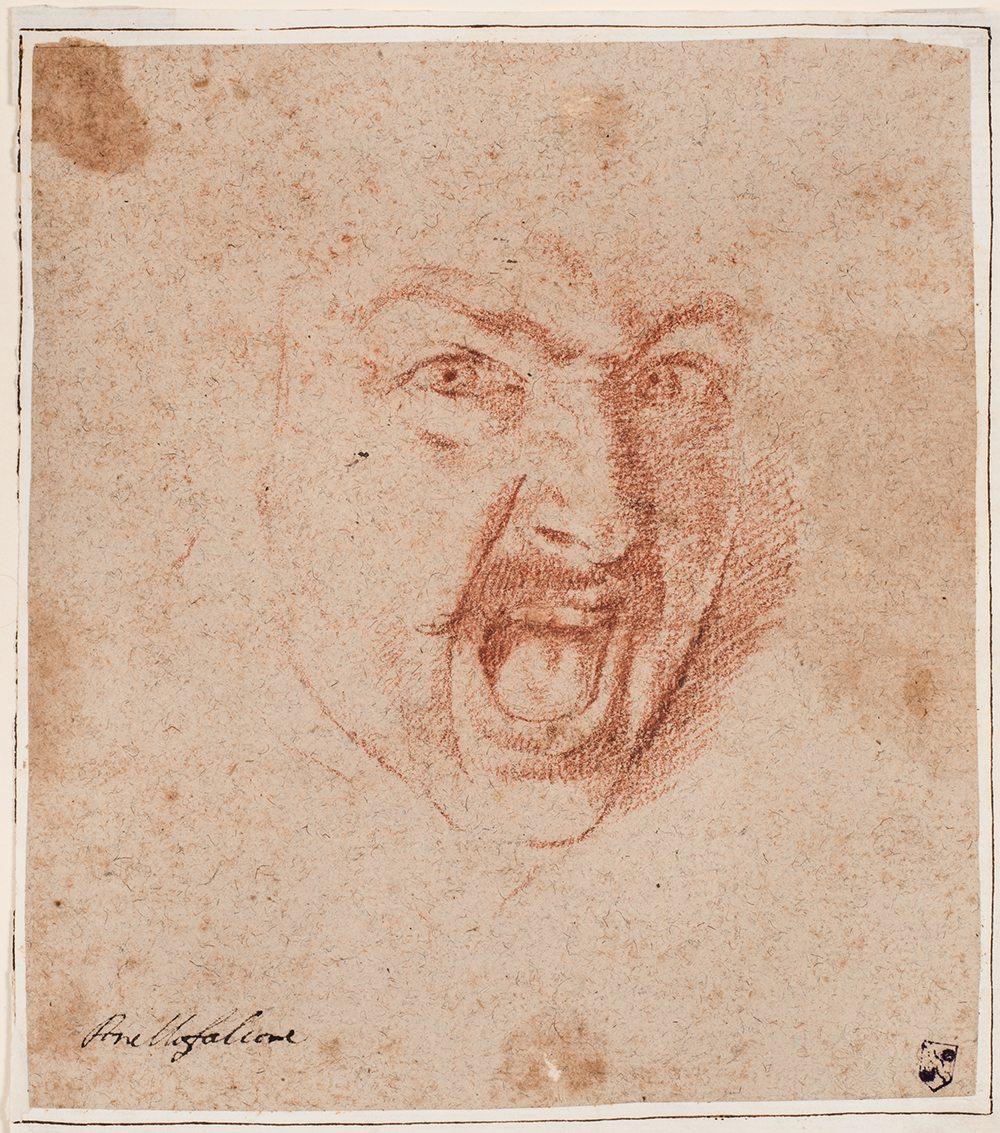 Aniello Falcone (1607-1656): Schreiender Krieger, Kunsthalle Bremen - Kupferstichkabinett - Der Kunstverein in Bremen (Foto: © Lars Lohrisch)