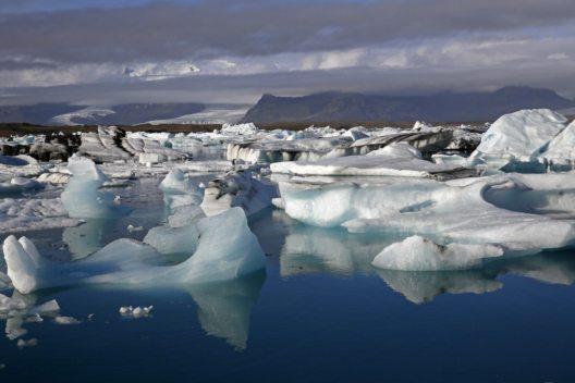 Jökulsarlon Gletscherlagune, Austerland, Island. (Bild: dia.ch)