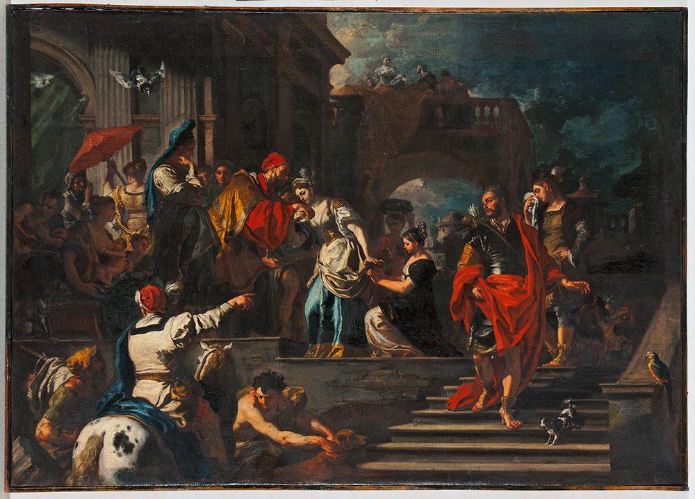 Francesco Solimena (1657-1747): Der Abschied der Rebekka Museum, Wiesbaden (Foto: © Bernd Fickert)